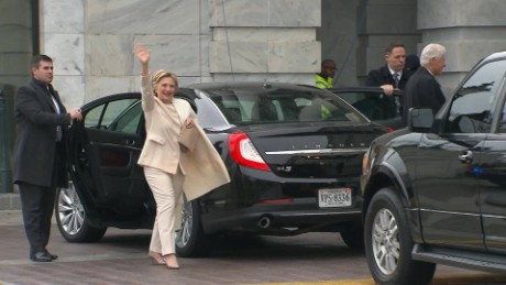 hillary clinton arrives inauguration vo _00001106