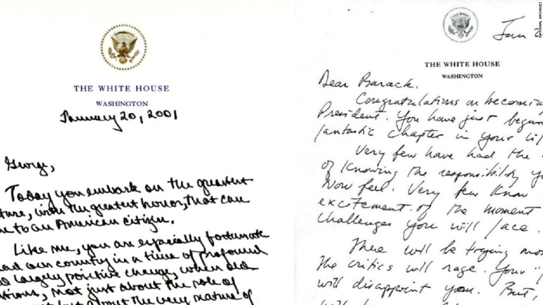 these letters from outgoing to incoming presidents show the grace in politics cnnpoliticscom