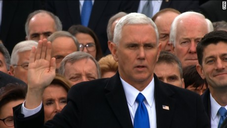 pence sworn in