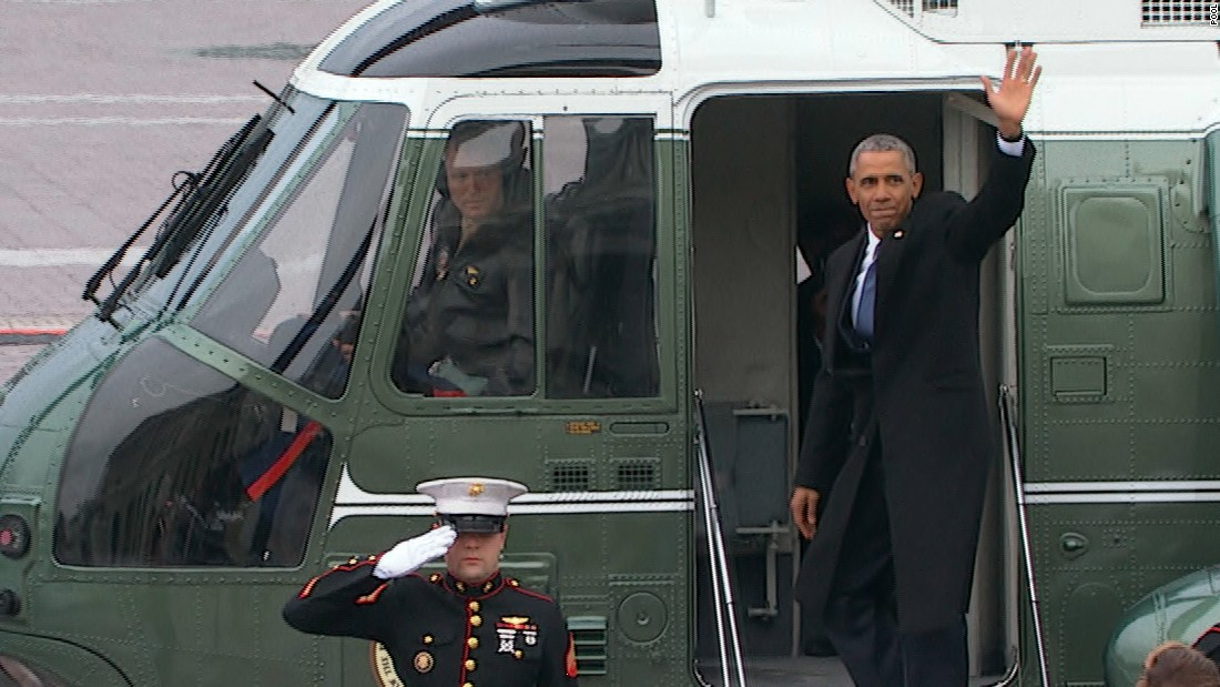 The Obamas say goodbye to Washington - CNNPolitics