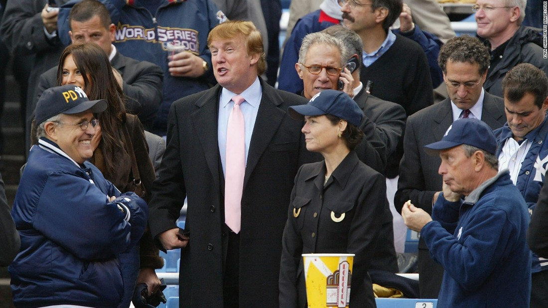 "Trump, seen here on a visit to watch the New York Yankees, has also trumped up his baseball ability as a young man, telling MSNBC last year: ""I was the best baseball player in New York when I was young."""