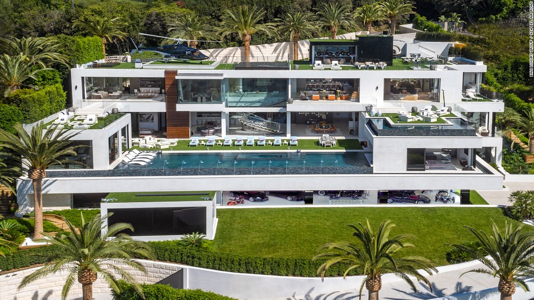 This Bel Air home, priced at $250 million, has claimed the title of most expensive home listed in the US.