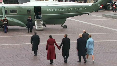Trump, Obama depart inaugural ceremony