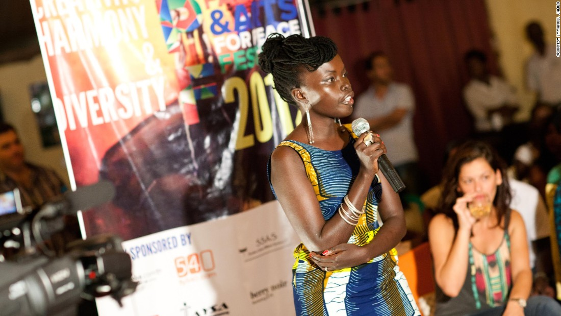 Garang (pictured above) hopes that the festival helps her countrymen and women connect.