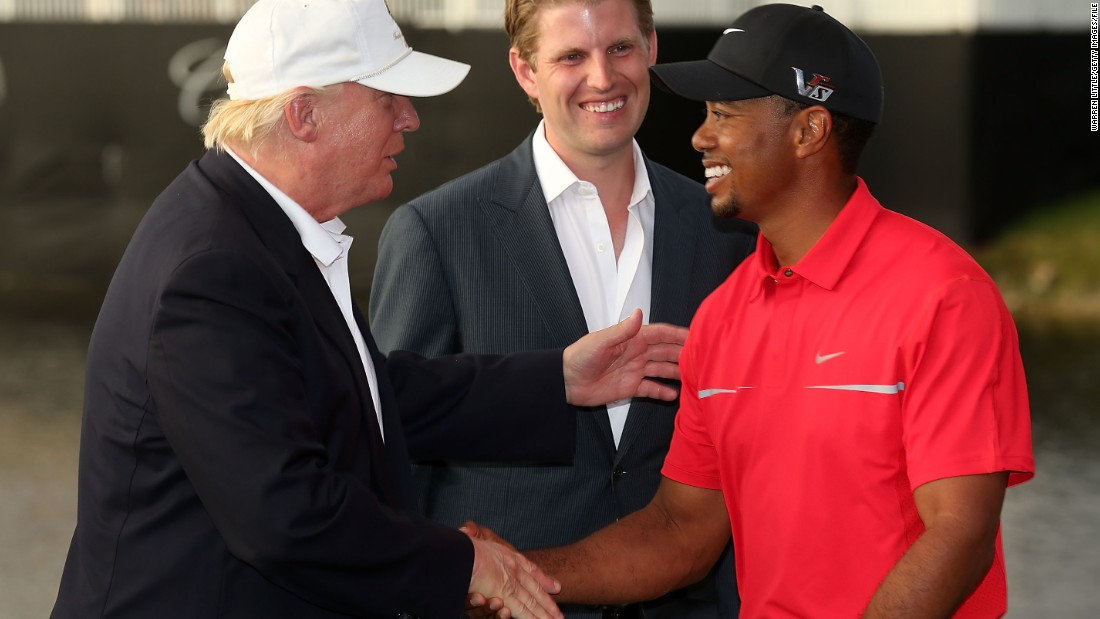"Trump is a keen golfer -- just like outgoing President Barack Obama and many of their predecessors -- and<a href=""http://edition.cnn.com/2017/01/05/politics/tiger-woods-donald-trump-golf/index.html"" target=""_blank""> soon after winning the election he played a round with former world No. 1  Tiger Woods</a>. The 14-time major champion wrote in his blog of Trump: ""What most impressed me was how far he hits the ball at 70 years old. He takes a pretty good lash."" Trump's lowest round is 70."