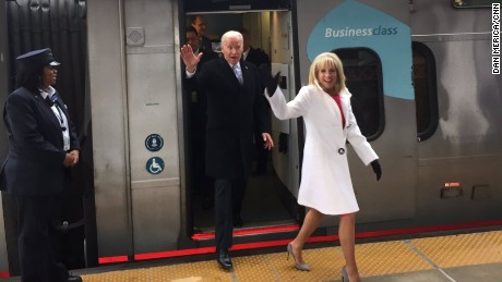 Joe Biden takes the Amtrak home