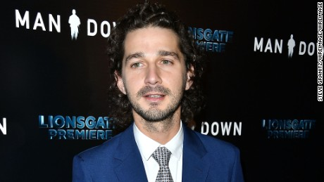 "Shia LaBeouf at the November 2016 premiere of  ""Man Down"" in Hollywood."