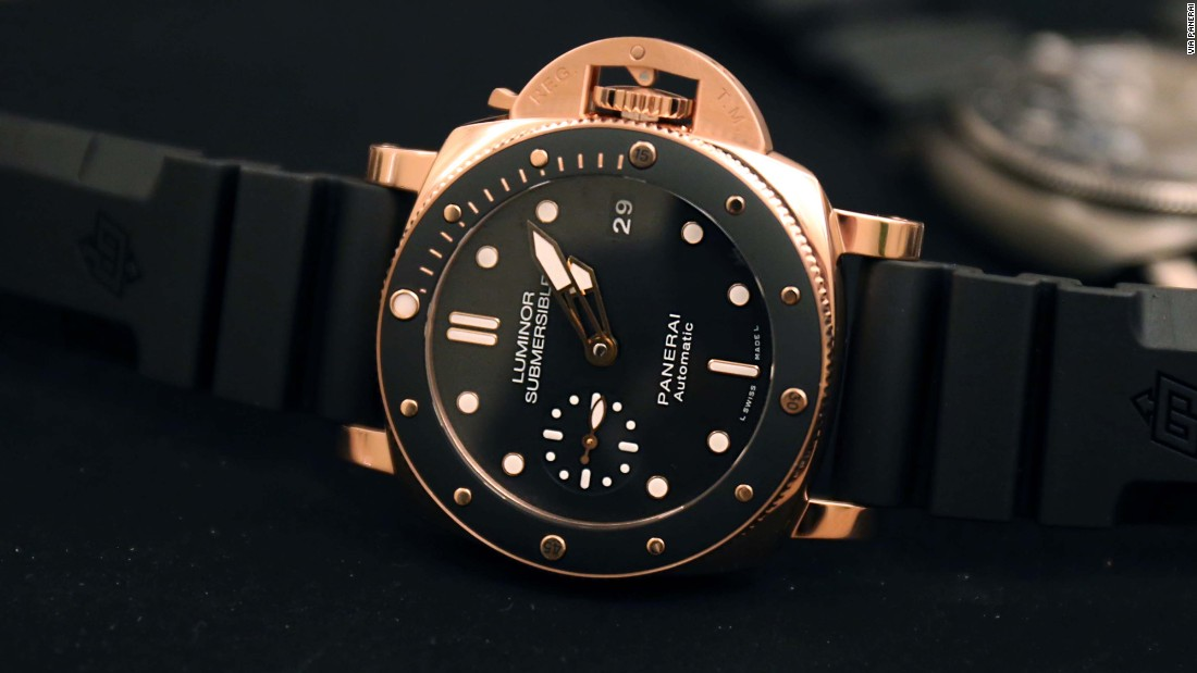 """On paper, offering a dive watch in solid 18k rose gold does not make much sense. Yet, with the new Panerai PAM 684, the contrast between the warm tone of the gold and the utilitarian black dial works extremely well, and the more modest 42mm case size cuts down on all that excessive weight."" -- Louis Westphalen"