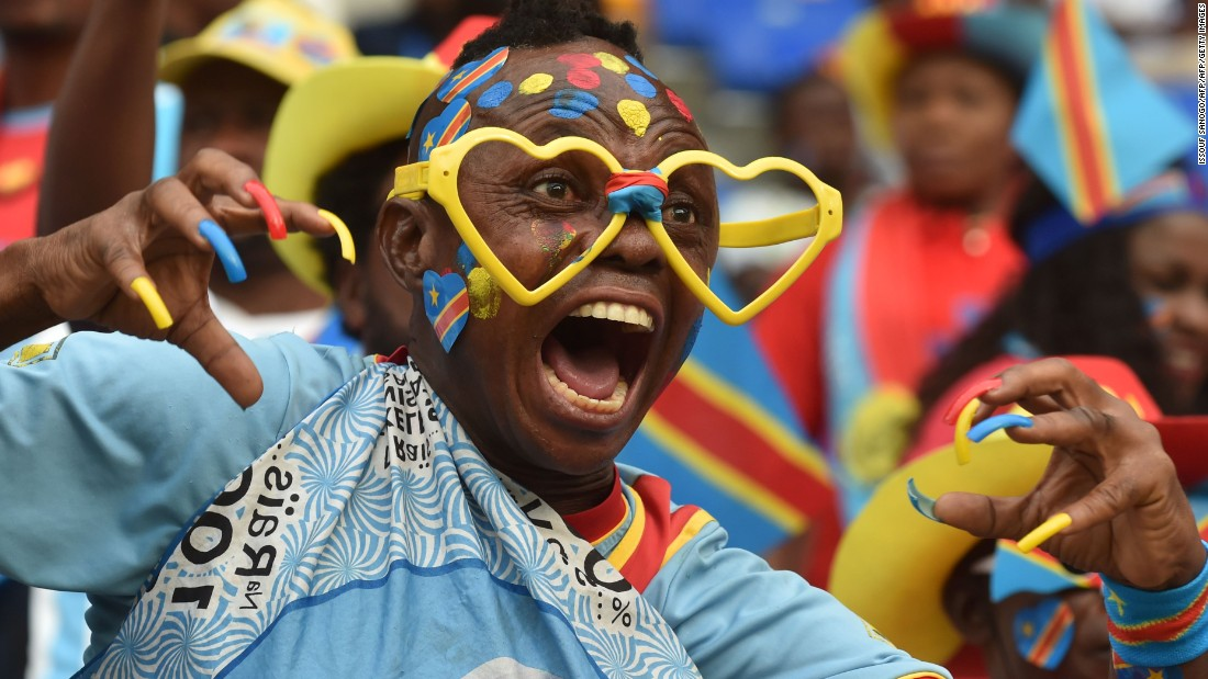 But it was DR Congo that struck first, with Neeskens Kebano drilling a powerful effort into the bottom corner from 20 yards, sending the colorful Congolese contingent into raptures.