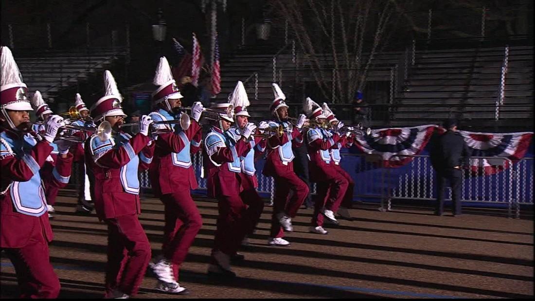 Talladega marching band performs at Trump inaugural parade