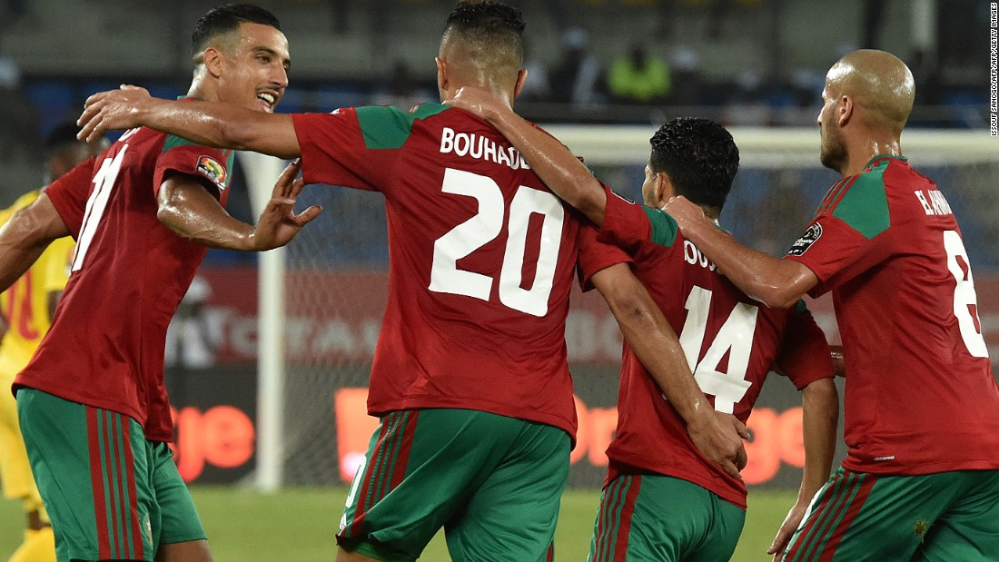 There was little over 10 seconds between Morocco's corner and Togo's goal, but the Atlas Lions came out fighting, with Aziz Bouhaddouz planting a header past Kossi Agassa to equalize.