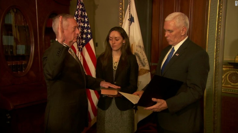 james mattis swearing in mike pence sot _00001328
