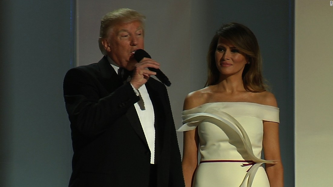 President Trump arrives at Liberty ball
