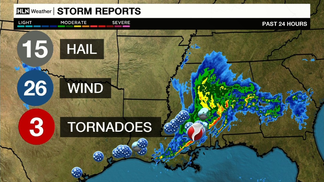 Mississippi storm: At least 3 dead; damage reported in Hattiesburg area