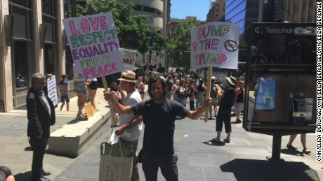 Thousands attend Women's March in Sydney, Australia.