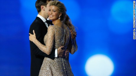 Ivanka Trump and husband Jared Kushner dance at the Freedom Inaugural Ball.