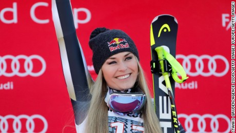 Lindsey Vonn won her 77th World Cup title in Garmisch last month.