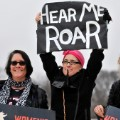 An estimated half-million have gathered in Washington DC, on January 21, 2017, to participate in the Womens March on Washington, a day after the inauguration of Donald Trump as President of the United States.