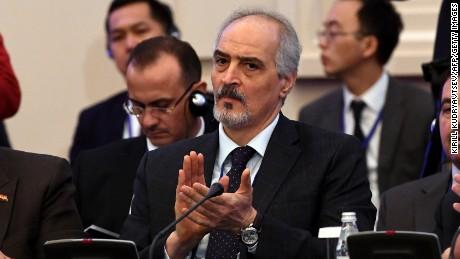 Syria's UN ambassador  Bashar al-Jaafari