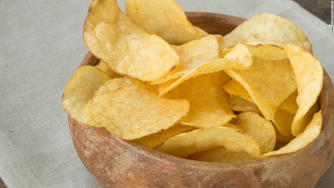 Crispy potato chips are another food with potentially high levels of acrylamide.