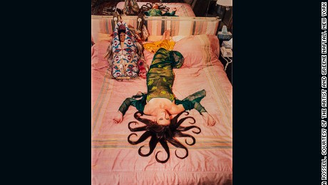 "Daniela Rossell Medusa, from the ""Ricas y famosas"" series 1999 Chromogenic Print 152 x 127 cm National Museum of Women in the Arts, Gift of Heather and Tony Podesta Collection, Washington, D.C. © Daniela Rossell, Courtesy of the artist and Greene Naftali, New York Photo: Lee Stalsworth"
