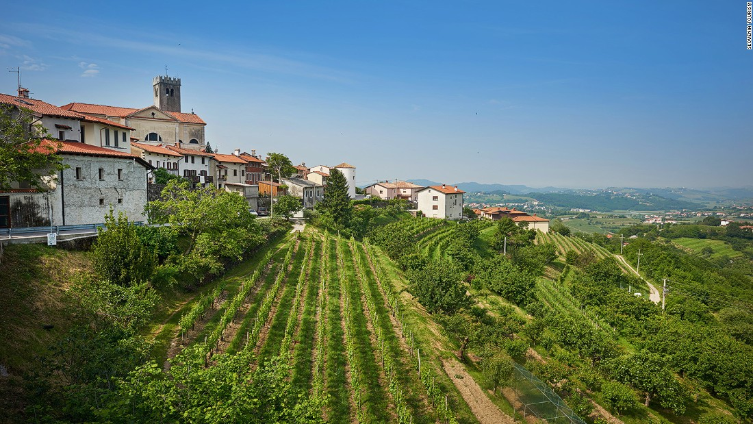"<strong>Brda, Slovenia:</strong> Described as a ""mini Tuscany,"" this Slovenian town bordering Italy is full of family-run vineyards."