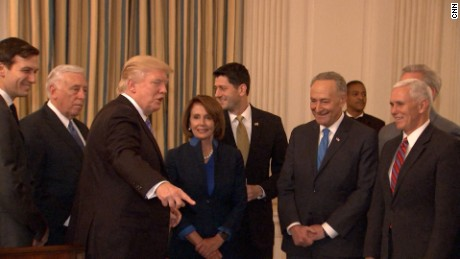 Image result for trump meets with congress heads