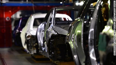 BREMEN, GERMANY - JANUARY 24: Workers oversee production of C-Class sedans on the assembly line of Mercedes-Benz on January 24, 2017 in Bremen, Germany. Daimler AG, which owns Mercedes, is scheduled to present its financial results for 2016 on February 2. Many German automakers are concerned over recent comments by U.S. President Donald Trump over possible tariffs on cars produced outside of the USA. (Photo by Alexander Koerner/Getty Images)