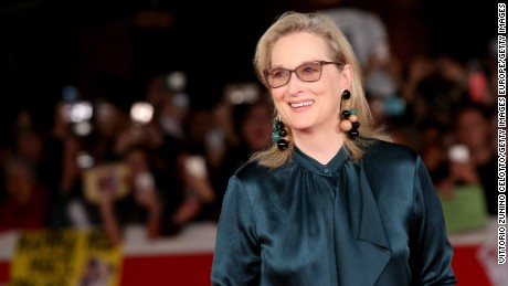 Meryl Streep walks a red carpet for 'Florence Foster Jenkins' during the 11th Rome Film Festival at Auditorium Parco Della Musica on October 20, 2016 in Rome, Italy.  (Photo by Vittorio Zunino Celotto/Getty Images)