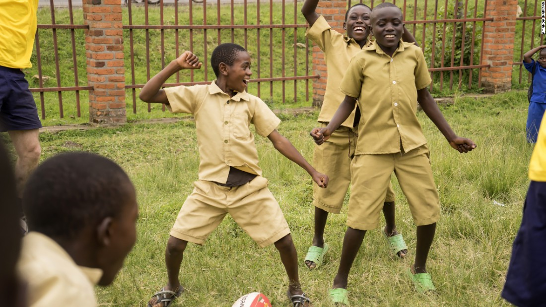 Rugby is now played in 74 primary schools and 56 secondary schools in Rwanda.