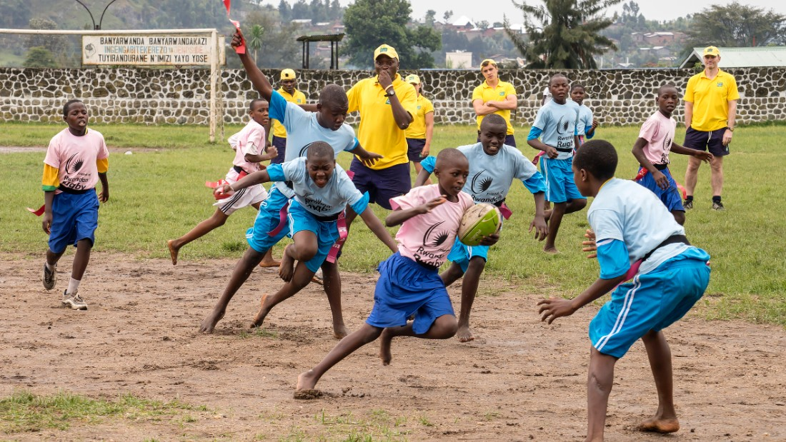Tharcisse, a genocide survivor, played for the national side -- the Silverbacks -- went into coaching, and is now general secretary of Rwanda Rugby.