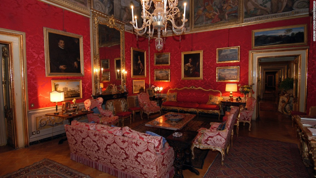Marquis Corso Patrizi Montoro leads tours of his home, Palazzo Patrizi Montoro, which has been in the family since 1642. In addition to tours, visitors can host private events in the lavish rooms.