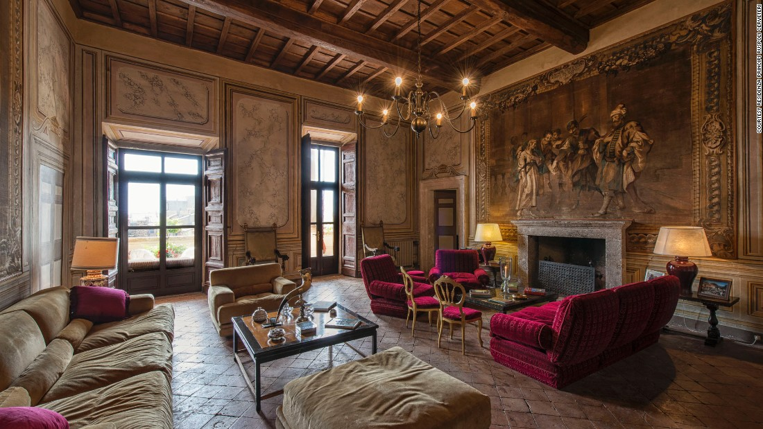 The Residenza Principi Ruspoli Cerveteri was built to defend the Vatican in the 1500s. Suites at this palazzo are available individually or the entire residence can be rented.