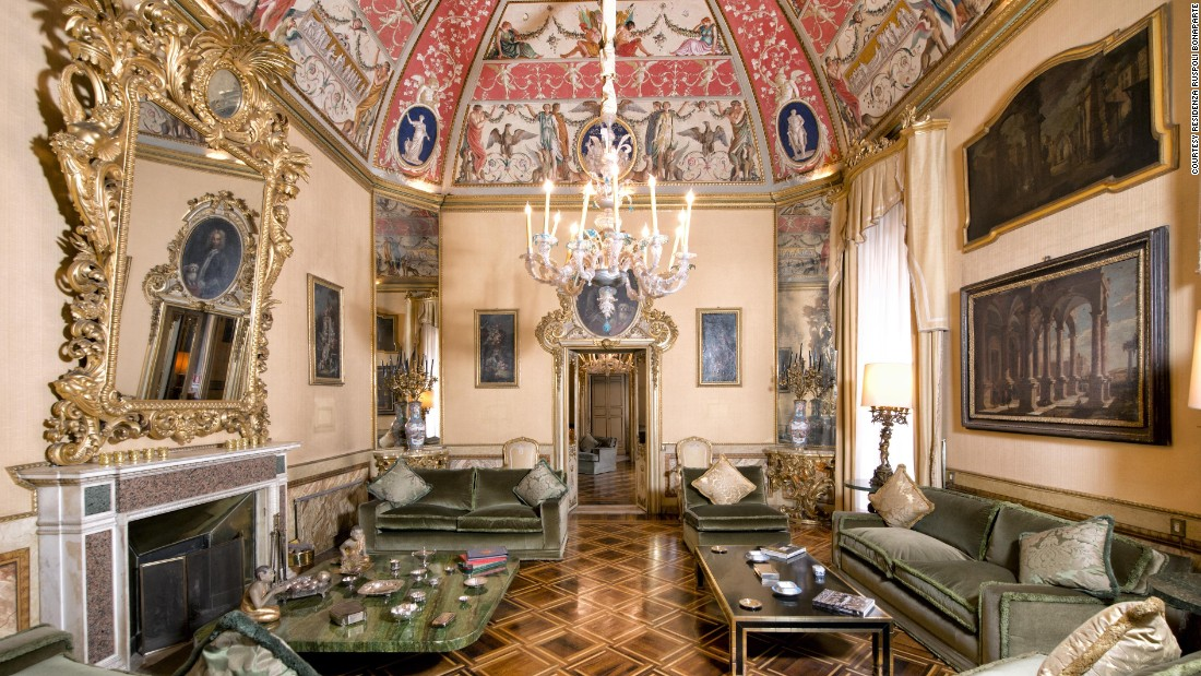 Some of Rome's private palazzos are open to guests for tours and sometimes overnight stays. The Residenza Ruspoli Bonaparte dates back to the 1500s. It offers three luxurious guest suites.