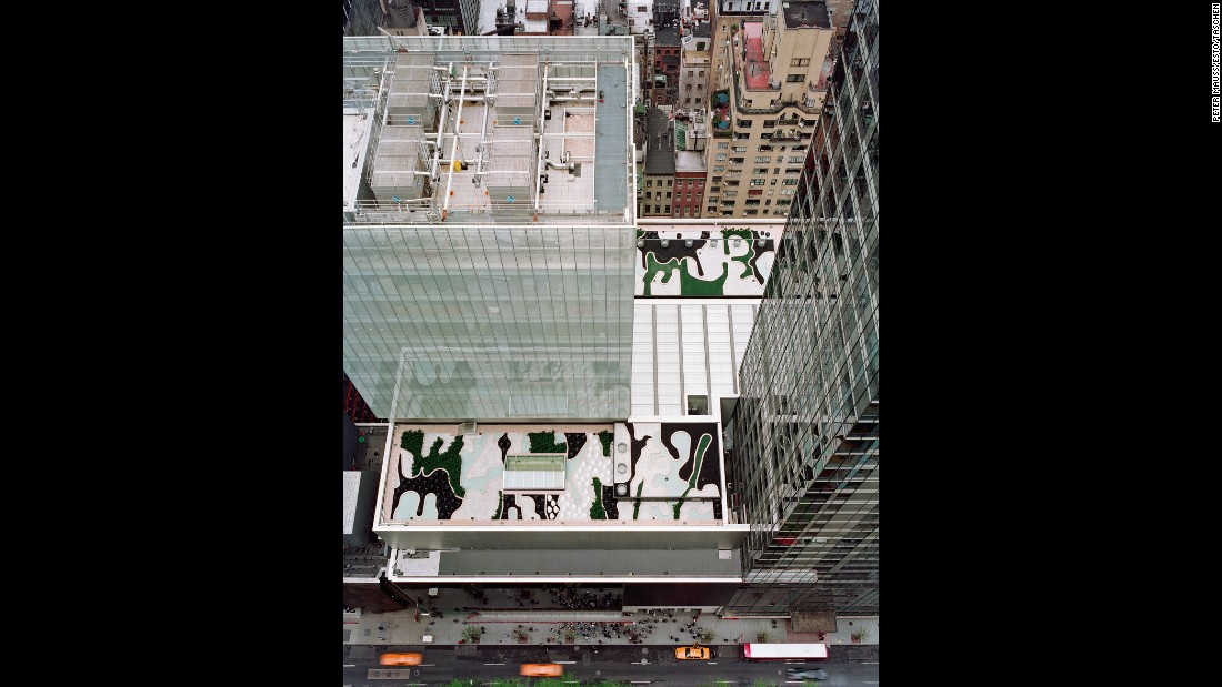 <strong>Museum of Modern Art Roof Garden, New York City:</strong> MOMA guests can't visit the museum's roof to explore landscape designer Ken Smith's creation. Created using only man-made materials -- the roof could not support the weight of a natural garden -- the camouflage-like creation can actually only be spotted from neighboring buildings. Very modern.