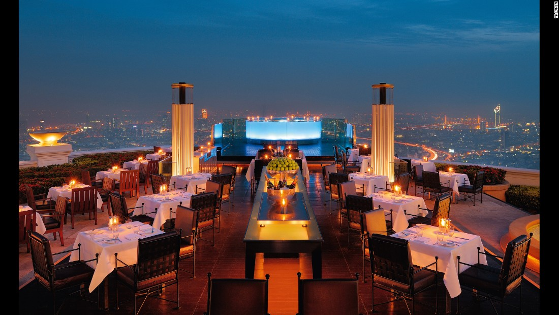 <strong>Sirocco Restaurant & Skybar, Bangkok: </strong>Located in the Dome of the State Tower, a 247-meter high skyscraper, Sirocco is located above the Lebua Hotel on the 63rd floor of the building. The bar and the renowned restaurant offer 360 degree views of the city.
