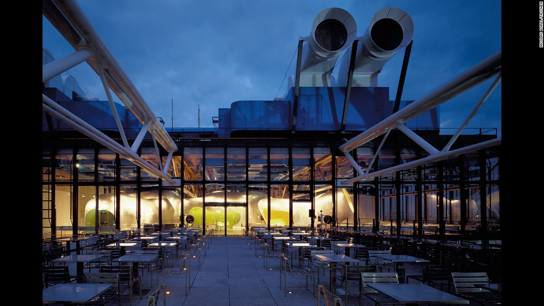 <strong>Georges Restaurant, Pompidou Center, Paris: </strong>One of the more successful rooftop restaurants in the world, Georges is located in the Pompidou Center. Although the center was designed by world-famous architects Richard Rogers and Renzo Piano, the Paris firm of Jakob & MacFarlane is responsible for the restaurant's design. Its indoor/outdoor options take advantage of spectacular views of the city of light.