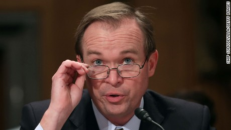 Rep. Mick Mulvaney (R-SC) testifies before the Senate Homeland Security and Governmental Affairs Committee during his confirmation hearing to be the next director of the Office of Management and Budget in the Dirksen Senate Office Building on Capitol Hill January 24, 2017 in Washington, DC.