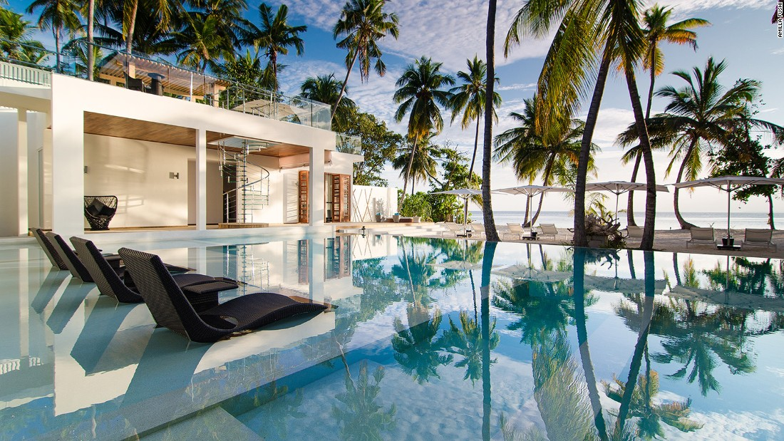 <strong>Amilla Villa Estate, Maldives:</strong> With bikes for exploring the island, 6 bedrooms and a beachside pool, this villa comes fully equipped.