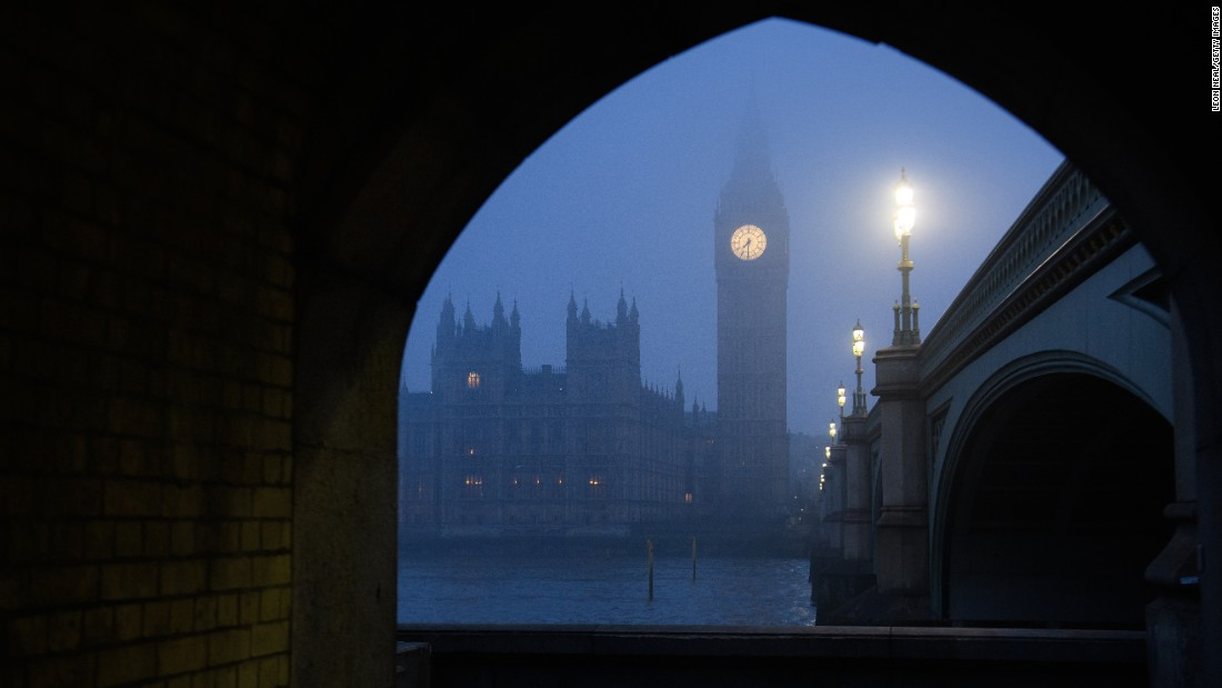 <strong>London: </strong>A real peasouper: The south of England was wrapped in freezing fog mid-January, with London's Houses of Parliament and the Elizabeth Tower -- better known as Big Ben -- pictured here in the gloam. <br />