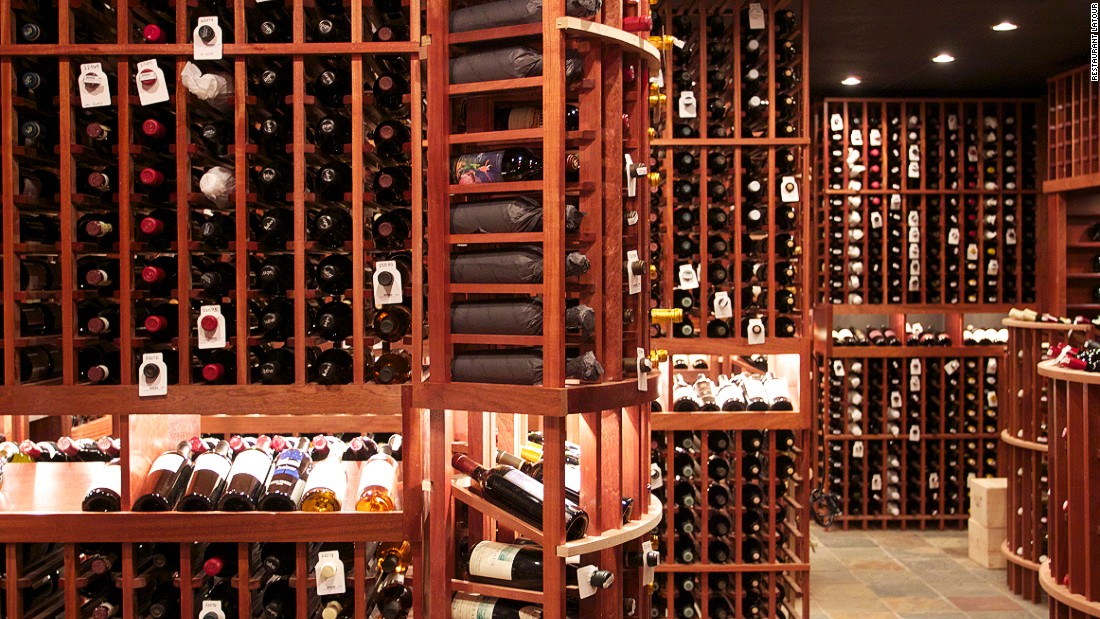 "Located at the Crystal Springs Resort in New Jersey, Restaurant Latour stores its 75,000 bottles in a custom-built, nine-room cellar. ""Latour's bottle storage is beautifully laid out, romantically lit, and held behind a massive heavy wood door for dramatic effect,"" says Molesworth."