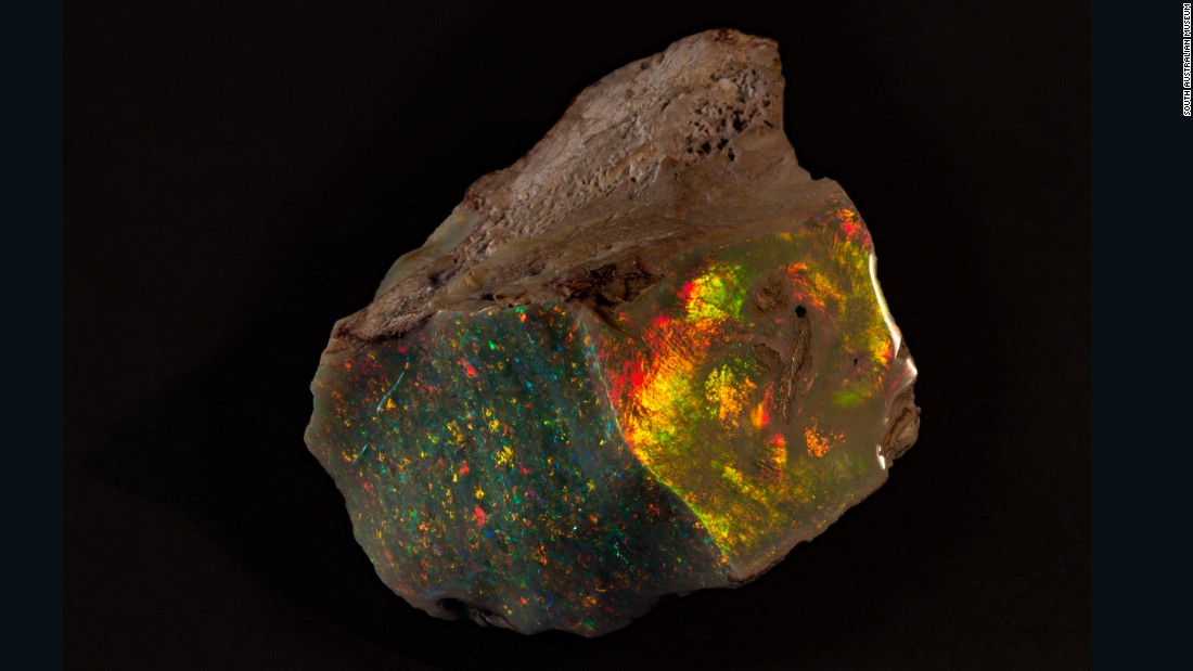 A rare, $675,000 opal has gone on display at the South Australian Museum, the first time it's being shown in public since its discovery in 1946.
