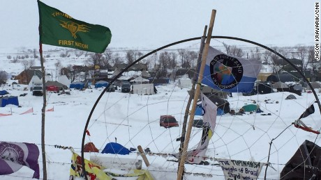 CNN's Sara Sidner and Jason Kravarik visitng the Standing Rock camp a day after President Trump signed an executive order calling for the resumption of construction on the Dakota Access Pipeline.