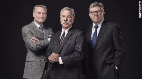This trio are charged with running F1: Sean Bratches (left to right), Chase Carey and Ross Brawn.