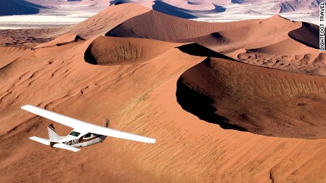 Flying over the sand dunes in the Namib Desert in Namibia is a once-in-a-lifetime experience, says Lucy Jackson, co-founder and director of Lightfoot Travel.