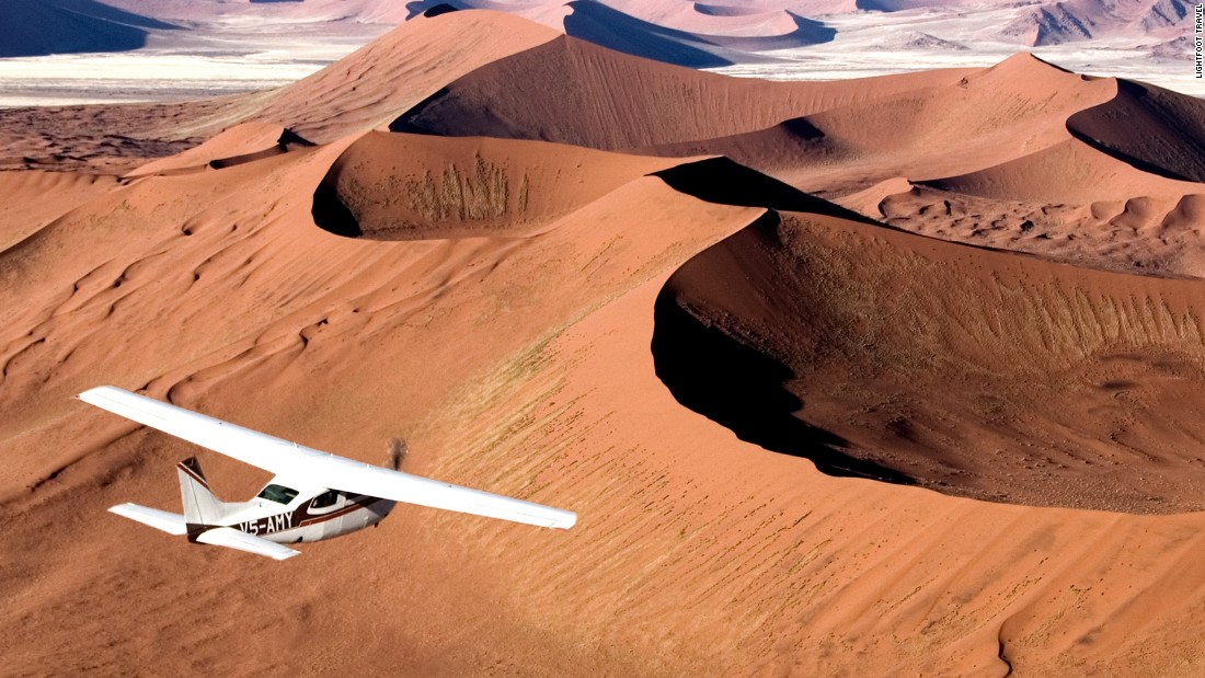 <strong>Namibia:</strong> Flying over the sand dunes in the Namib Desert in Namibia is a once-in-a-lifetime experience, says Lucy Jackson, co-founder and director of Lightfoot Travel.