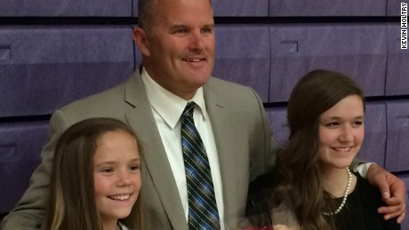 Kevin Holtry with his daughters.
