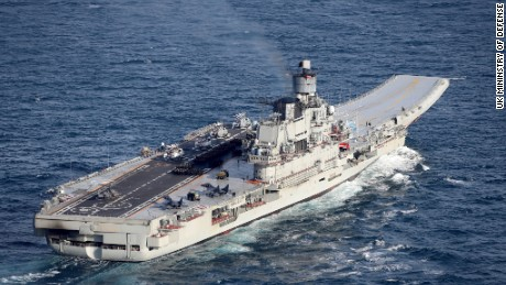 UK shadows Russia's aircraft carrier