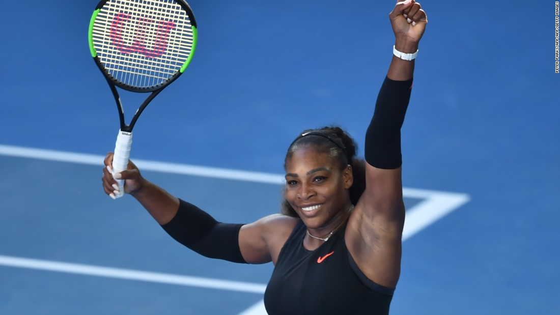 Earlier Thursday, Serena Williams beat Croatian veteran Mirjana Lucic-Baroni in straight sets to reach her 29th grand slam final.