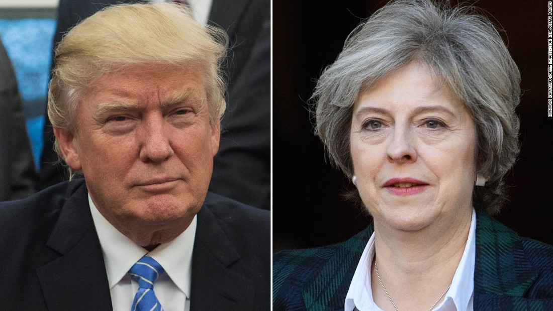 Obama's advice to Theresa May: Befriend Donald Trump